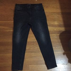 Faded black, almost grey J. Crew skinny jeans